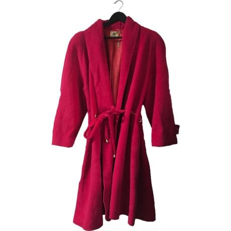 wool gown coat pink