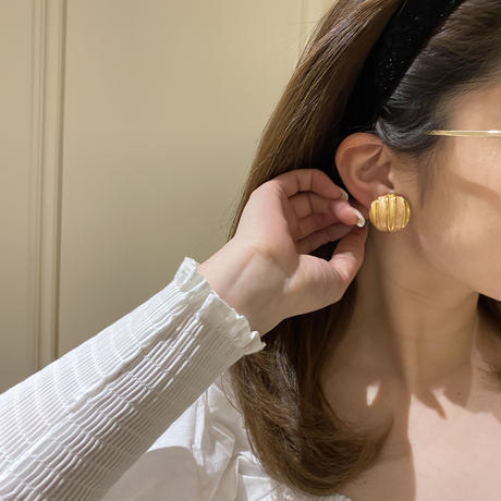 pink gold vintag earring(No.4329)
