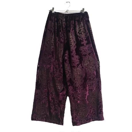 velour  design pants purple