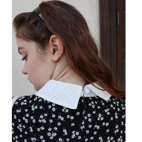 lace collar flower onepiece