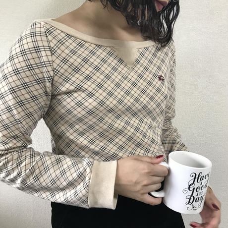 Burberry check sweat