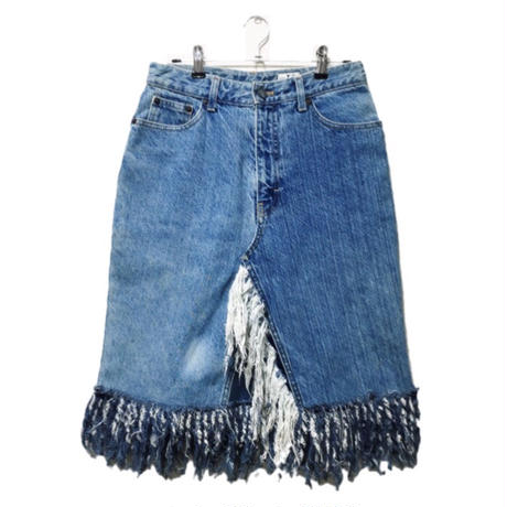 Calvin Kleih fringe denim skirt