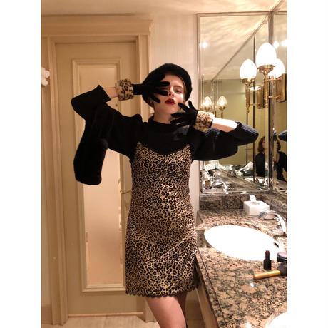 lace leopard camisole onepiece