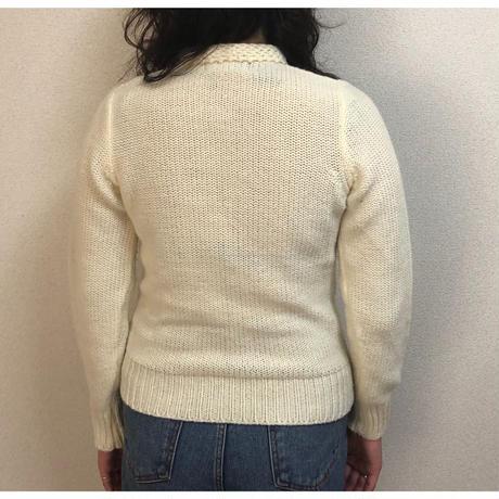 flower design vintage knit