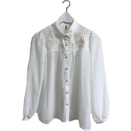 flower design chiffon blouse