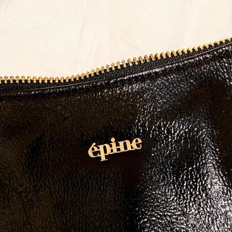 épine gold logo half moon bag black