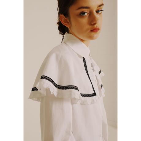 frill lace cape 2way blouse