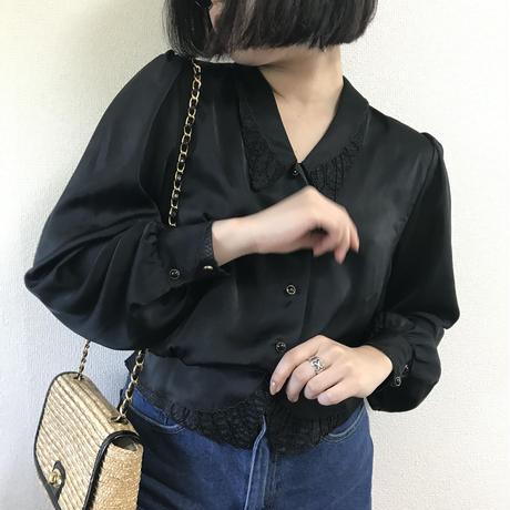 bijou design satin blouse
