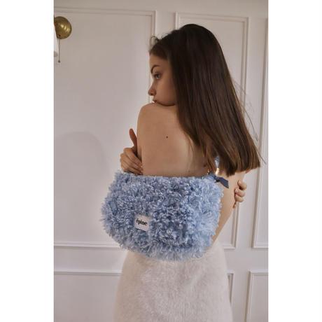 épine label poodle fur bag ice blue