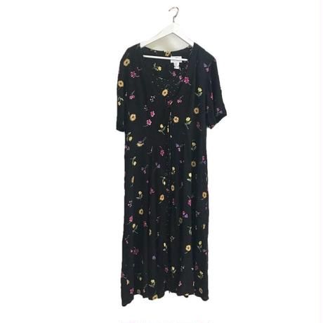 flower dot design one-piece