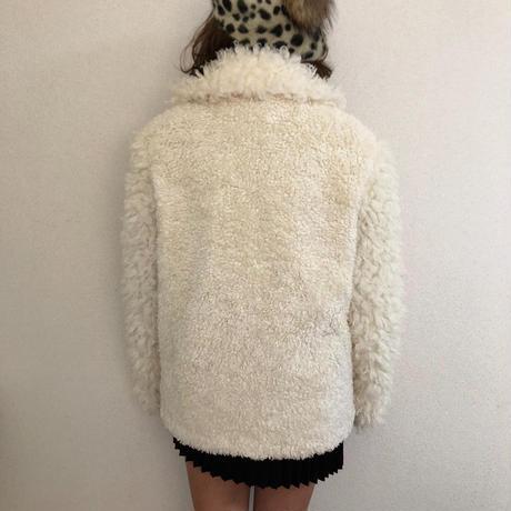 【スペシャルプライス】curly boa fur coat ivory