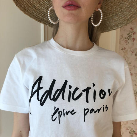 addiction tee white