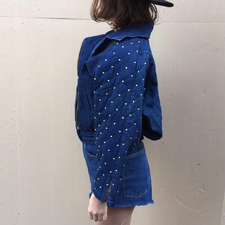 quilting studs denim jacket
