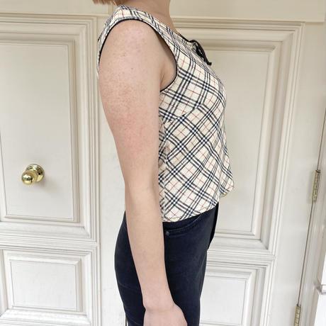 Burberry ribbon  no sleeve tops (No.4019)