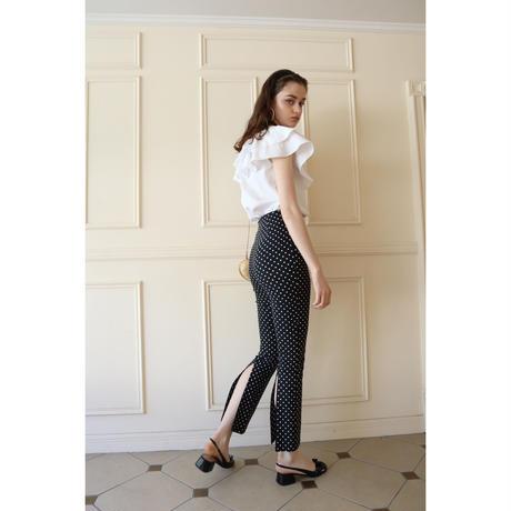 back slit dot pants