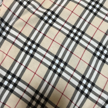Burberry check frill design tops