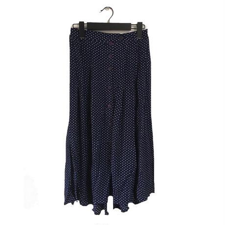 slit dot skirt