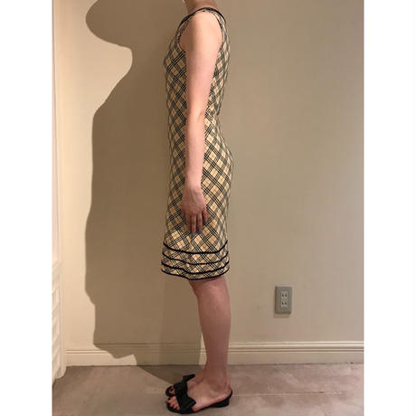 Burberry check design piping one piece(No.3009)