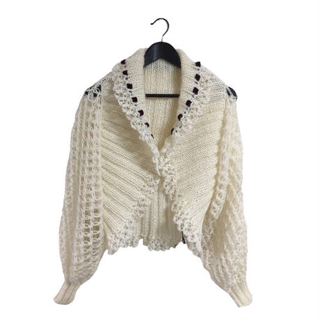 arm volume design knit cardigan