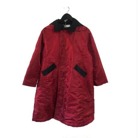 YSL logo bi-color hood long coat