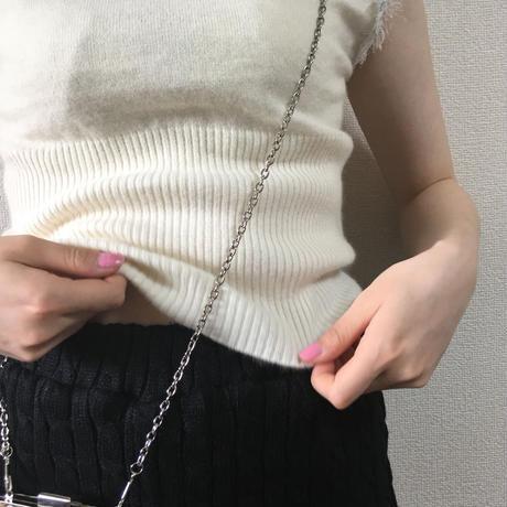 Chloé knit fur design tops