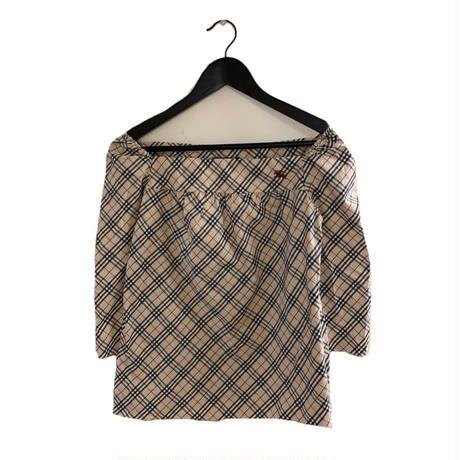 Burberry check square neck tops(No.3370)