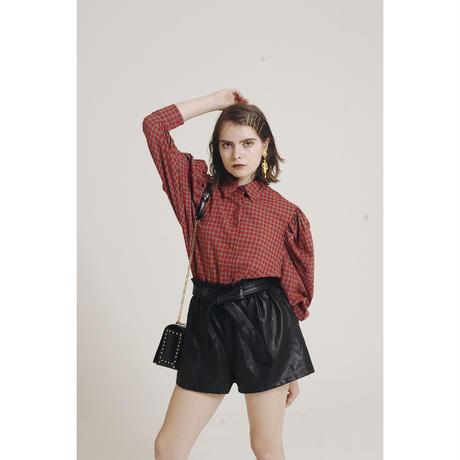 leather design shirt pants