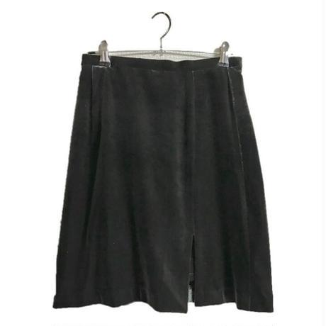 velour slit mini skirt