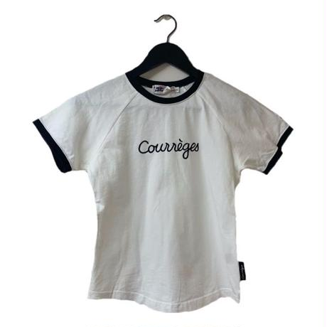 courrèges logo piping tee(No.2986)