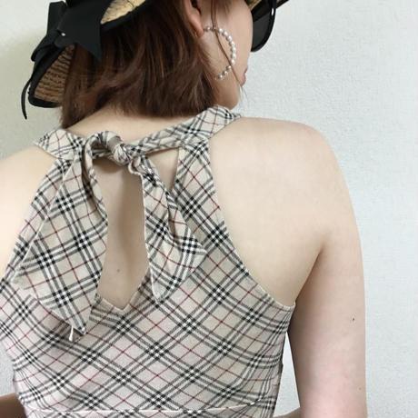 Burberry back ribbon design tops