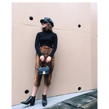 leopard fur pants