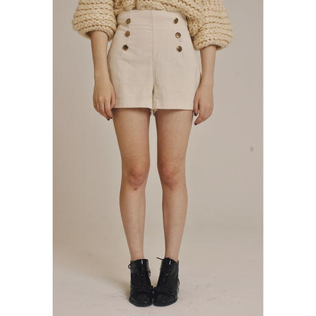 corduroy short pants off-white