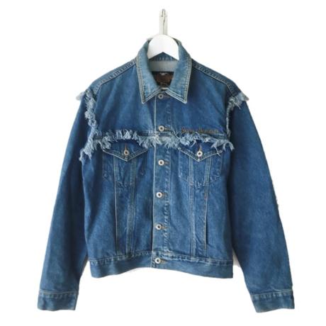 HARLEY DAVIDSON fringe denim jacket