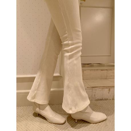 high-waist fit corduroy pants ivory