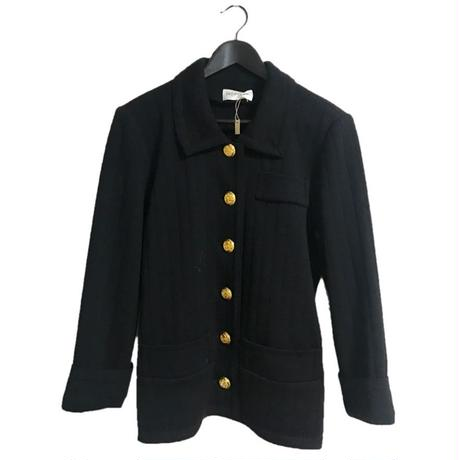 【スペシャルプライス】YSL gold botton knit cardigan black