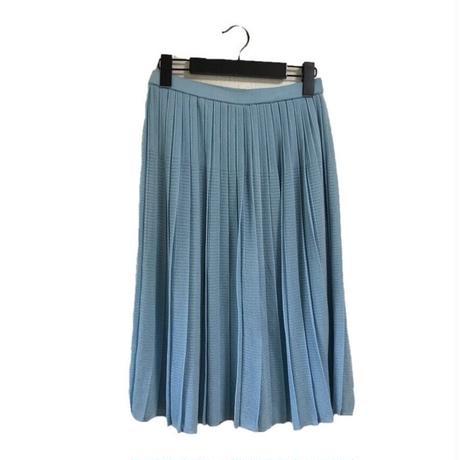 pleats skirt light blue