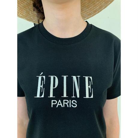 ÉPINE PARIS embroidery tee black×white