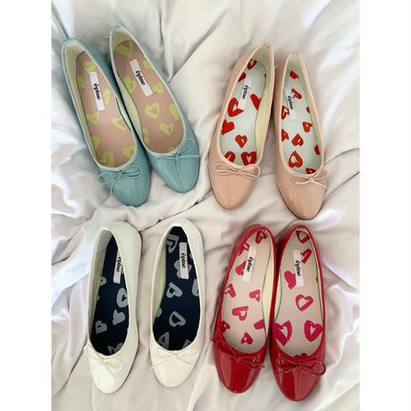 épine Heart lining ballet shoes