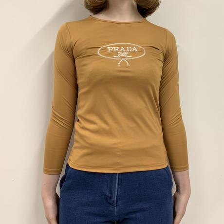 PRADA logo tops mustard (No.3108)