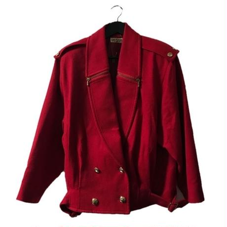 big silhouette coat red