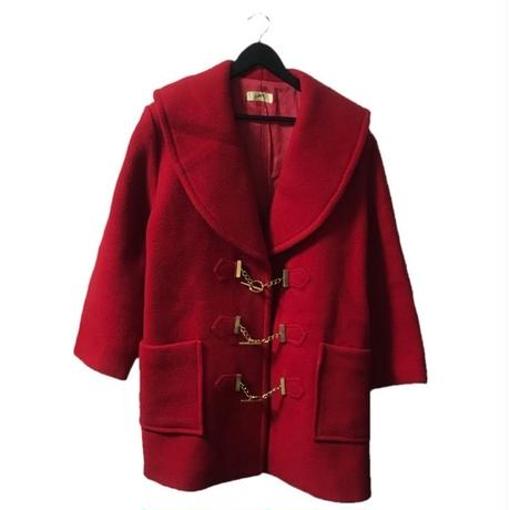 【スペシャルプライス】gold chain design wool coat red