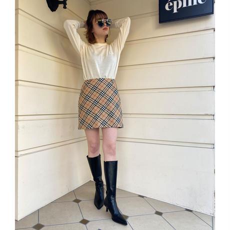 Burberry wool check design skirt