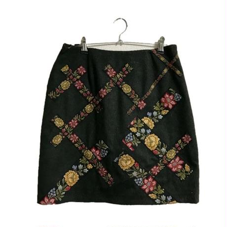 MOSCHINO flower design wool skirt