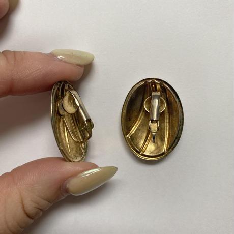 gold  line vintage earring(No.4150)