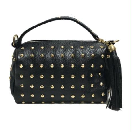 studs fringe shoulder bag