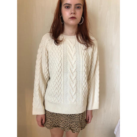 loose cable knit ivory