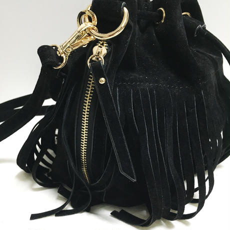 suède fringe 2way bag