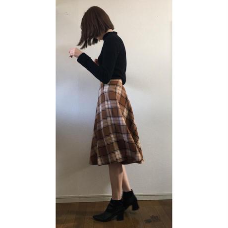 check long skirt brown