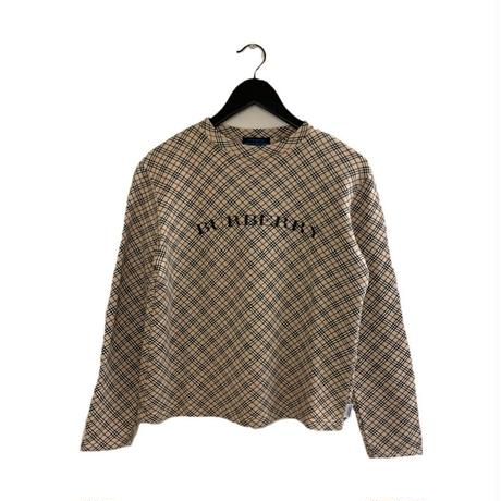 Burberry check design logo sweat(No.3862