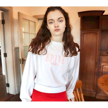 ÉPINE PARIS embroidery sweat white×pink